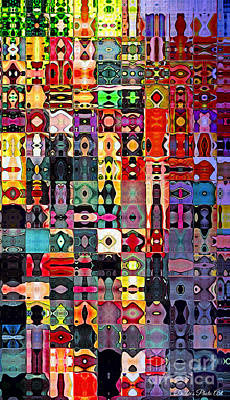 Digital Art - I Phone Case / Wall Art - Colorful Patterned Blocks by Debbie Portwood