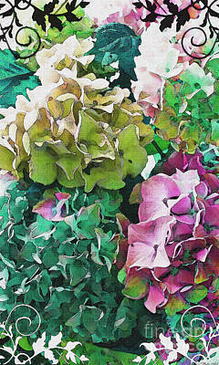 Photograph - I Phone Case / Wall Art - Hydrangea Photo Art II by Debbie Portwood