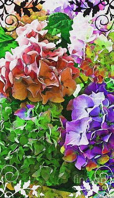 Photograph - I Phone Case / Wall Art - Multi Colored Hydrangeas Iv by Debbie Portwood