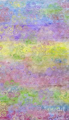 Digital Art - I Phone Case / Wall Art - Pastel Colors With Swirl Patterns by Debbie Portwood