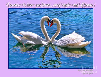 Photograph - I Promise To Love You Poster By Diana Sainz by Diana Raquel Sainz