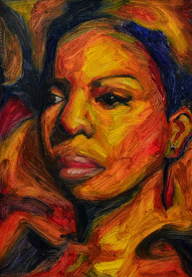 Nina Simone Painting - I Put A Spell On You - Nina Simone by Khairzul MG
