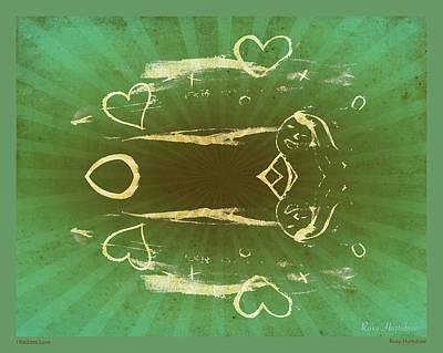Digital Art - I Radiate Love Naturally by Roxy Hurtubise