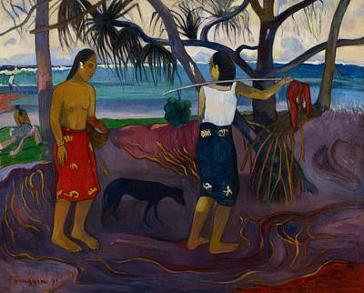 Oceania Painting - I Raro Te by Paul Gauguin