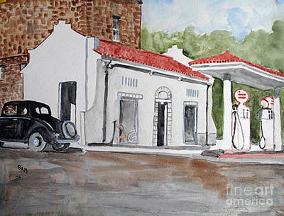 Service Station Painting - I Remember by Sandy McIntire