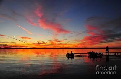 Boat Photograph - Firecracker Sunset 2 by Terri Gostola