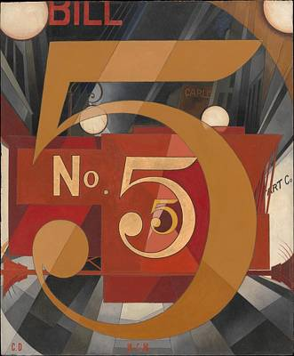 I Saw The Figure 5 In Gold Art Print by Charles Demuth