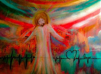 Heartbeat Mixed Media - I See Heaven by Debbie Hornsby
