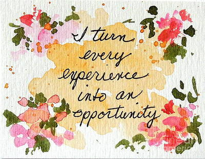 Painting - I See Opportunity Affirmations by Elizabeth Crabtree