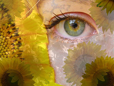 I See Sunflowers Art Print