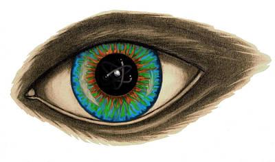 Atom Mixed Media - I See You by Becky Yates