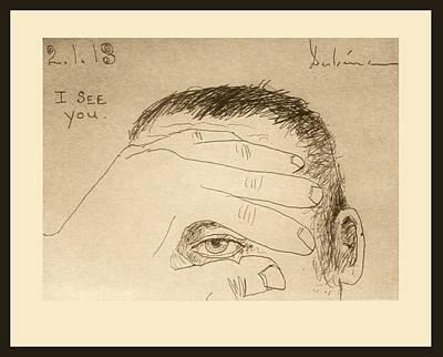 Illuminati Drawing - I See You by Michael Dubina