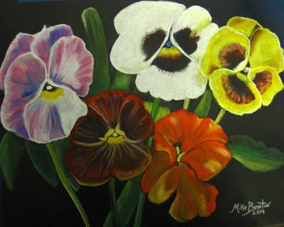 I See Your Pansies Art Print