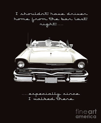 I Should Not Have Driven Home From The Bar Art Print by Edward Fielding