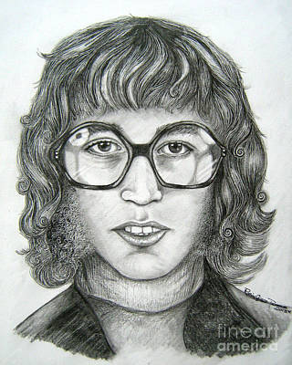 Art Print featuring the drawing Robin Gibb by Patrice Torrillo