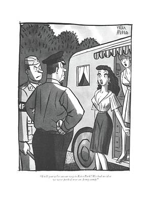 Drawing - I Tell You We're On Our Way To Estes Park! by Peter Arno
