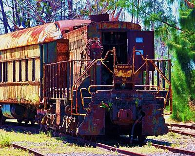 Old Caboose Photograph - I Think I Can by Chuck  Hicks