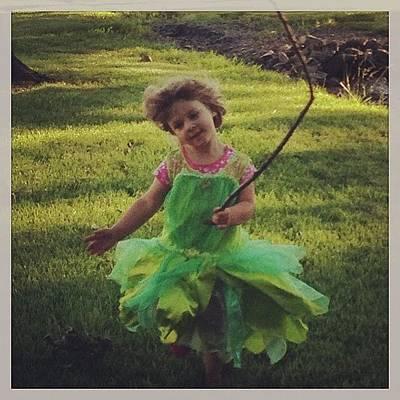 Fairy Photograph - I Think I Caught A Fairy! #fairy by Karen Koneski