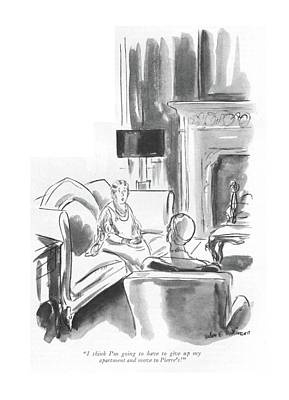 Great Drawing - I Think I'm Going To Have To Give Up My Apartment by Helen E. Hokinson