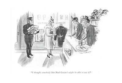 Great Drawing - I Thought Somebody Like Noel Coward Might Be Able by Helen E. Hokinson