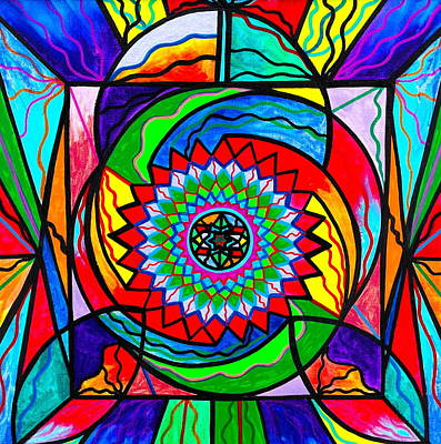 Sacred Geometry Painting - I Trust Myself To Create by Teal Eye  Print Store