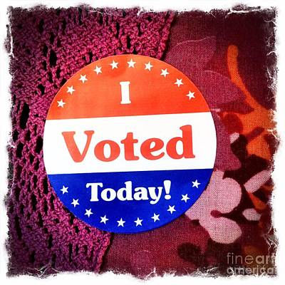 Photograph - I Voted Today by Diane Macdonald