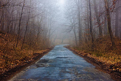 I Walk A Lonely Road Art Print by Pati Photography