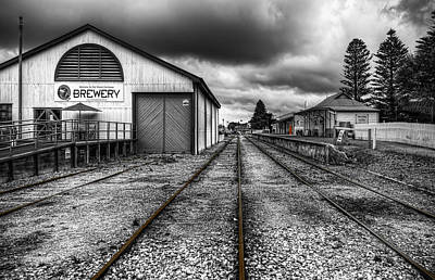 The Railway Station Photograph - I Walk The Line by Wayne Sherriff