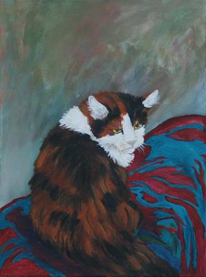 Painting - I Want My Lap by Gail Daley