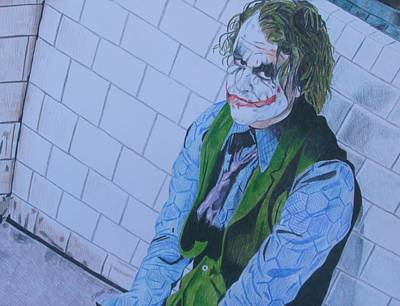 Heath Ledger Wall Art - Drawing - I Want My Phone Call by Jeremy Moore