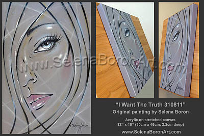 Women Painting - I Want The Truth 310811 Comp by Selena Boron