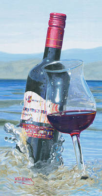 Wine Glass Painting - I Was Made To Love You by Will Enns