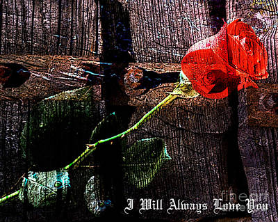 Mixed Media - I Will Always Love You by Marvin Blaine