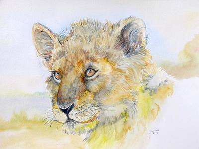 I Will Be The Lion King Art Print by Janina  Suuronen