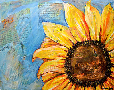 Painting - I Will Have No Fear Sunflower by Lisa Fiedler Jaworski