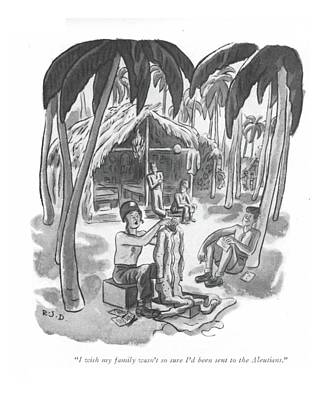 The South Drawing - I Wish My Family Wasn't So Sure I'd Been Sent by Robert J. Day