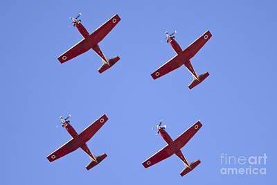 Beechcraft Photograph - Iaf Flight Academy Aerobatics Team 4 by Nir Ben-Yosef