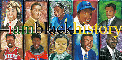 Black History Painting - IAM by Charis Kelley