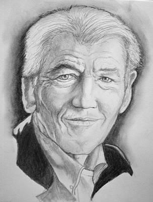Magneto Drawing - Ian Mckellen by William Heflin