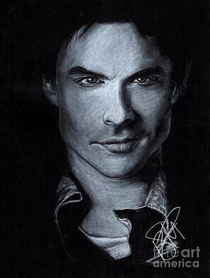 Drawing - Ian Somerhalder by Rosalinda Markle