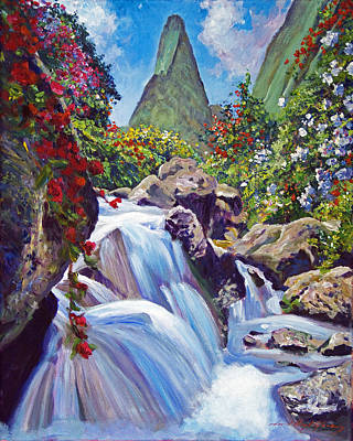 Painting - Iao Needle Maui by David Lloyd Glover