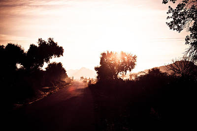 Iberian Sunrise Road Print by Calvin Hanson