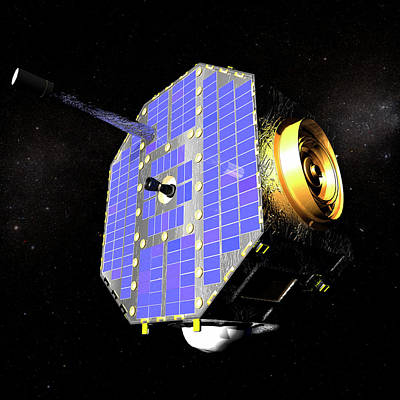 Ibex Spacecraft In Space Art Print