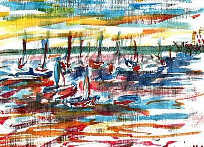 Painting - Ibiza Seas by Anthony Fox