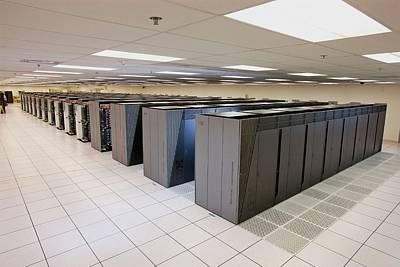 Rack Photograph - Ibm Sequoia Supercomputer by Lawrence Livermore National Laboratory