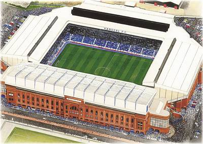Art Mobile Painting - Ibrox - Glasgow Rangers by Kevin Fletcher