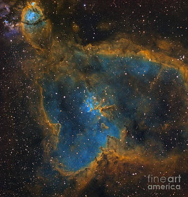 Photograph - Ic 1805, The Heart Nebula by Michael Miller