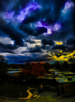 Ic Art Photograph - Ic A Storm Ahead by Ron Fleishman