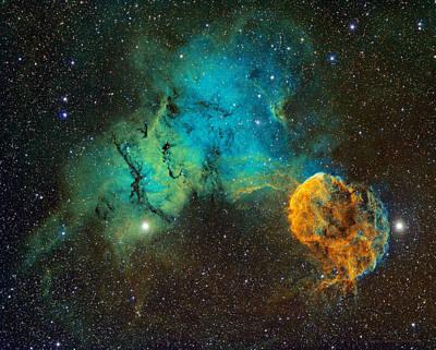 Ic443 - The Jellyfish Nebula Art Print by Bob  Franke