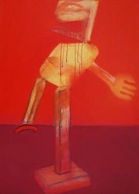 Icarus In Red Art Print